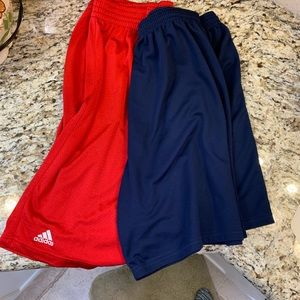 2- men's 2XL athletics shorts